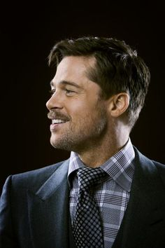 brad pitt - scruffy yet suave x
