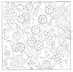 Pattern Drawing, Pattern Art, Pattern Design, Islamic Tiles, Islamic Art, Crewel Embroidery, Embroidery Patterns, Tile Art, Mosaic Tiles