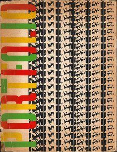 Portfolio Magazine cover by Alexey Brodovitch / Volume 1, Issue 3 / 1951