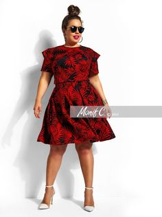"""Vida"" Double Sleeve Top -Black/Cherry-Print - Clothing - Monif C"