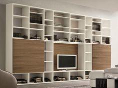 Mueble modular de pared lacado con soporte para tv SPEED O Colección Speed by Dall'Agnese | diseño Imago Design, Massimo Rosa