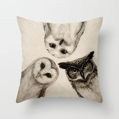 Buy The Owl's 3 Throw Pillow by Isaiah K. Stephens. Worldwide shipping available at Society6.com. Just one of millions of high quality products available.