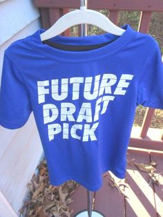 "Boys T Shirt Size 5 Graphic ""Future Draft Pick""Blue & White  #Carters #Everyday"