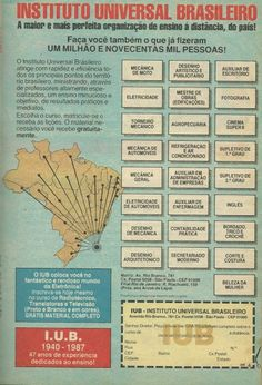 Eu lembro disso:  Instituto Universal Brasileiro (1987)