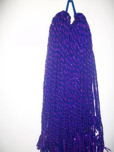 two purple and blue hand woven hairfalls cyber goth punk steampunk alternative hairfalls 1... £27.99