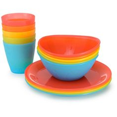 Munchkin 15pk Multi-Dining Toddler Cups, Bowls and Plates Set : Target