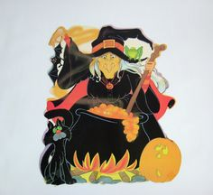 1980s witch halloween decoration by eureka 100a by munnypenney 500