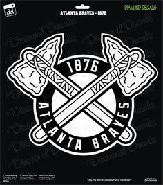 Atlanta Braves Special 1876 MLB Baseball Logo Decal Vinyl Sticker Car Truck Window Laptop by DiamondDecalz