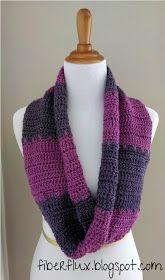 Fiber Flux...Adventures in Stitching: Free Crochet Pattern...Violet Tones Infinity Scarf