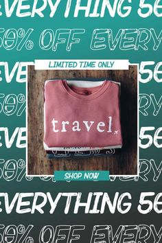 From 8/3-8/10, Serengetee's entire site is 50% off! It's the Summer Sale! Every order also comes with a free surprise gift worth $10+ PLUS free shipping on US orders $75+ #serengetee #summersale #sale Goncalves, Cyber Monday Sales, 50 Off Sale, Travel Items, Summer Outfits Women, Travel Essentials, Summer Sale, Lunch Box, Prints