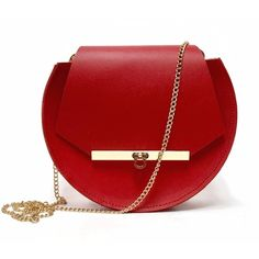Angela Valentine Handbags - Loel Mini Military Bee Chain Bag Clutch In... (2.754.235 IDR) ❤ liked on Polyvore featuring bags, handbags, clutches, purses, man bag, red leather handbags, red leather shoulder bag, leather shoulder handbags and mini shoulder bag