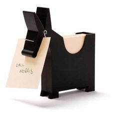 Morris Memo Holder charcoal (black) | unique gifts | boyfriend gifts | gifts for him