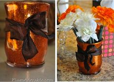 Easy DIY Glitter Vase! #crafts