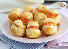 Petits choux au saumon - Recette Ptitchef