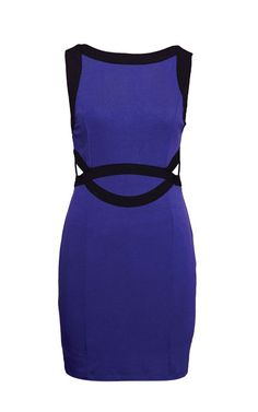 Dress in purple and black by Nikibiki, $99 at Stephanie Horne Boutique.