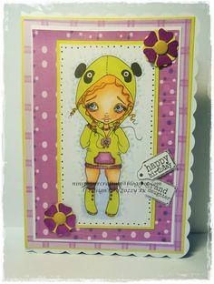 Nins Handmade Cards: Oddball Art Stamps Facebook Challenge