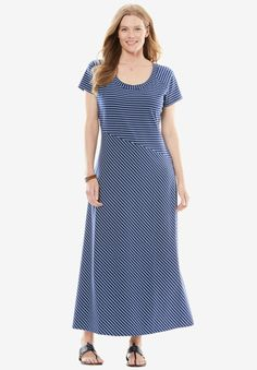 Shop for Criss-cross striped maxi dress and more Plus Size New Dresses from Woman Within. Comfort, fit & value for sizes 12w to 44w