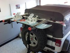 Rear Rack Over Spare With Board Skis