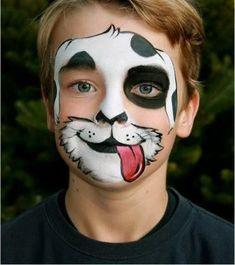 Face Painting Tutorials, Face Painting Designs, Paint Designs, The Face, Face And Body, Dog Face Paints, Halloween Make Up, Halloween Face Makeup, Animal Face Paintings