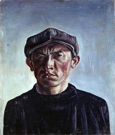 Curt Querner, Selbstbildnis mit Mütze (Self-Portrait with Hat), 1930