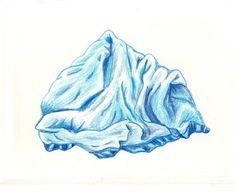 """Iceberg"" by Joey Veltkamp.   #art #seattleartist #drawing #cute #blue"