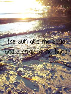 the sun and the sand and a drink in my hand- kenny chesney