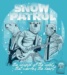 Estampa 'Snow Patrol' no Camiseteria.com. Autoria de rodisley jose da silva http://cami.st/d/54553