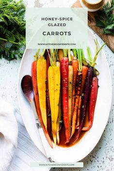 Honey-Spice Glazed Carrots – cooked with caramelized honey, a dash of cumin & smoked paprika, these spicy, honey glazed carrots are sweet, spicy, and simply delicious! #carrots #glazedcarrots #honeyspicecarrots #side #delicious   kitchenconfidante.com @kitchconfidante
