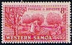 Samoa 1952 SG 225 Cacao Harvesting Fine Mint SG 225 Scott 209 Condition Fine MNH Only one post charge applied on multipule purchases Details N B With