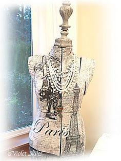Dress form with wood embellishments. Vintage Stuff, Vintage Ladies, House Additions, True To Form, Flea Market Decorating, Dress Form Mannequin, Vintage Shabby Chic, Bedroom Inspiration, Cottage Style
