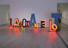 Last Chance Lost - Word sculptures by Jack Pierson