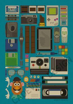 Cool retro stuff poster