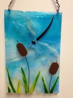 Fused Glass Dragonfly (Tack Fused)