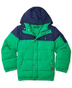 Ralph Lauren Boys' Quilted Hooded Jacket