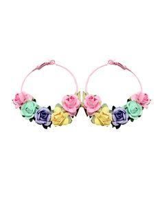 Pretty rose earrings by Locketship
