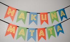 Hakuna Matata lion guard lion king birthday party sign