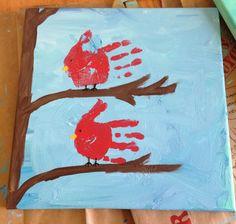 Cardinal handprints