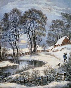Currier & Ives: Winter Moonlight