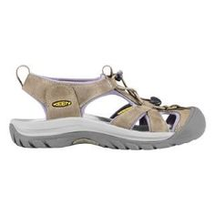 Keen comfort sandals...beach.hiking,biking,or whatever! Machine washable, waterproof, & toe protection from beach debris,tree roots,& crazy old ladies with shopping carts !