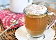 pumpkin spice latte for guests upon arrival. YUM!