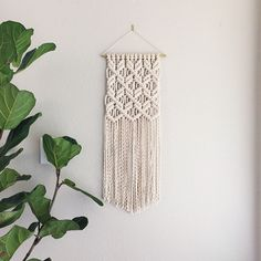 Macrame Patterns/Macrame Pattern/ Macrame Wall Hanging Pattern/Wall Hanging/Modern Macrame/Pattern/Title: Clove Hitch on Repeat by ReformFibers on Etsy https://www.etsy.com/listing/285876291/macrame-patternsmacrame-pattern-macrame