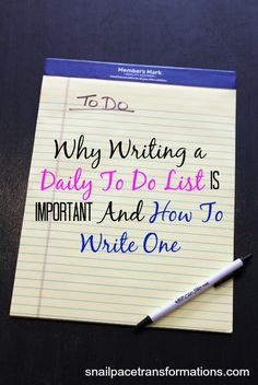 How to write an effective to do list.