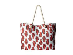 Pin for Later: 27 Stylish Beach Bags You Can Match to Your Swimsuit  Gabriella Rocha Sandy Lobster Print Beach Bag ($74)