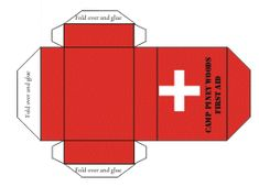 Print and fold first aid box - fill with the AG get well items.