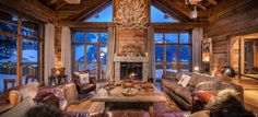lodge fireplace - Google Search