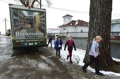 Bookmobile at Pioneer School