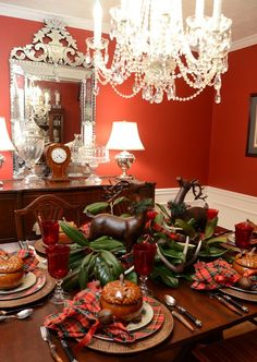 Top Christmas tables of 2013 - #christmas #table #decorating