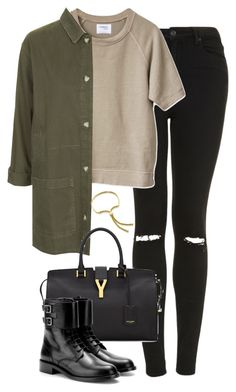 """Untitled #4933"" by eleanorsclosettt ❤ liked on Polyvore featuring Topshop, Yves Saint Laurent and Monica Vinader"