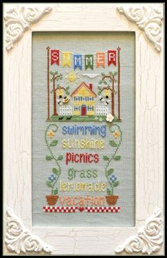 The title of this cross stitch pattern from Country Cottage Needleworks Seasonal Celebration series is Summer.