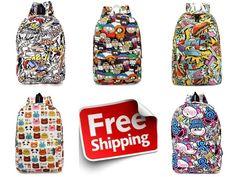Graffiti Canvas Backpack Students School Bag For Teenage Girls Boys  Canvas   Backpack  School 3485ea0ec1